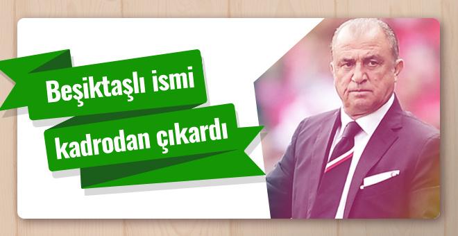 Fatih Terim Beşiktaş'ın yıldızını kadrodan çıkardı