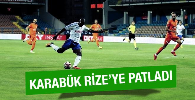 Karabükspor Rizespor maçının golleri ve özeti