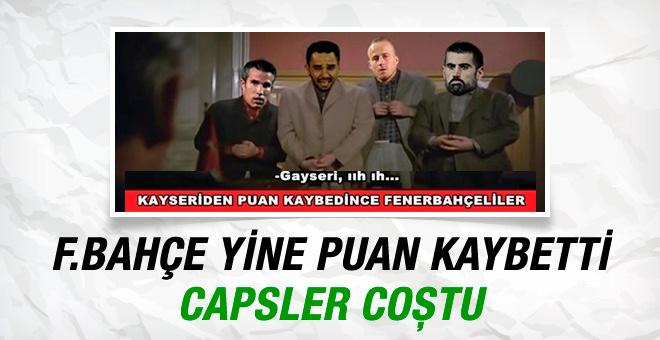 Fenerbahçe yine puan kaybetti capsler patladı