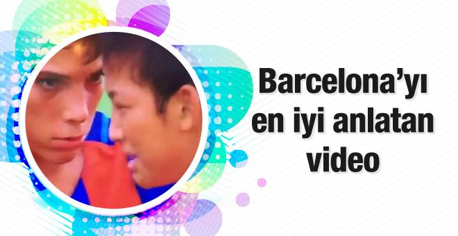 Barcelonalı miniklerden örnek davranış