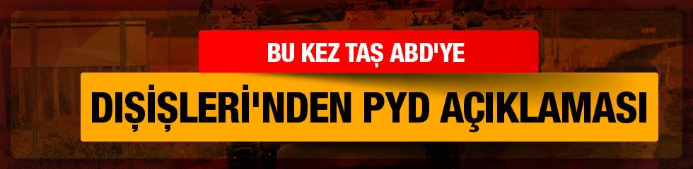 Dışişleri'nden YPG açıklaması!