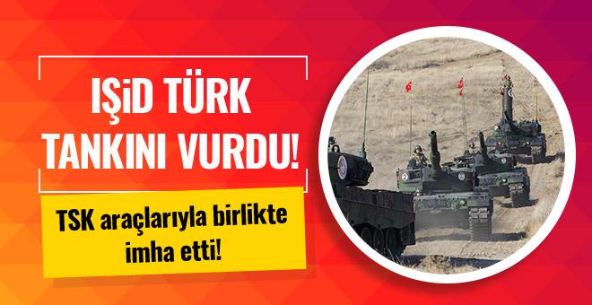Cerablus'ta Türk tankı vuruldu! Yaralı askerler var!