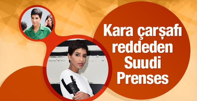 Kara çarşaf giymeyi reddeden Suudi Prenses Deena