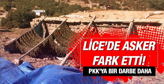 PKK'ya bir darbe daha! Lice'de asker fark etti
