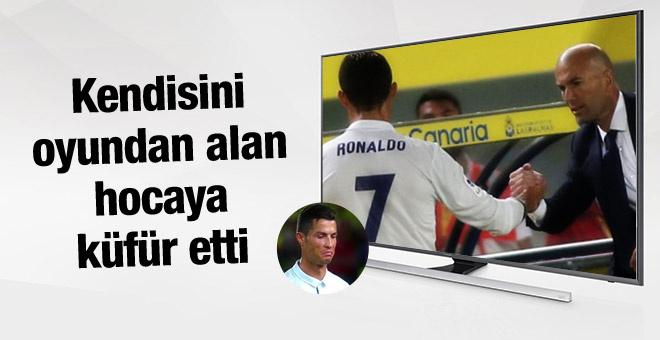 Cristiano Ronaldo Zidane'a küfür etti