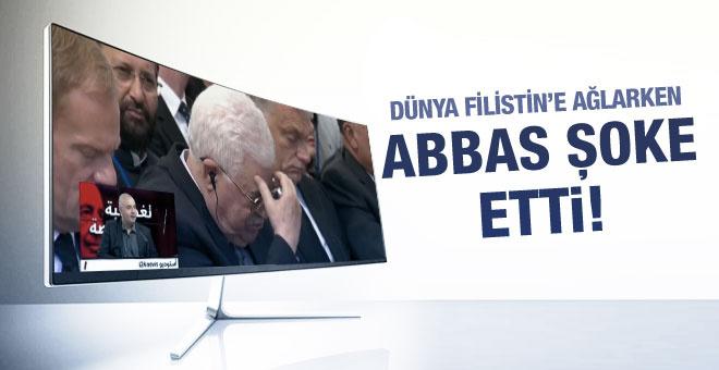 Şimon Peres'in cenazesinde Abbas'ın şok yaratan hali