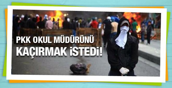 PKK Silvan'da okul müdürünü kaçırmak istedi!