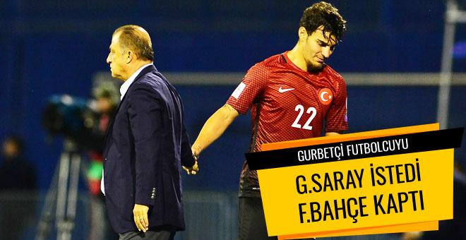 Gurbetçi futbolcuyu G.Saray'a istedi F.Bahçe kaptı
