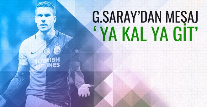 Galatasaray Lukas Podolski'yi uyardı