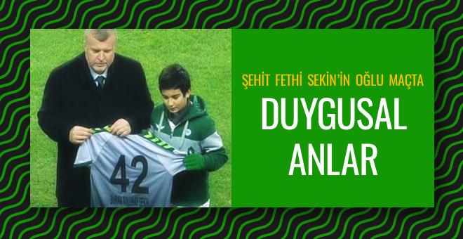Şehit Fethi Sekin'in oğlu Galatasaray maçında