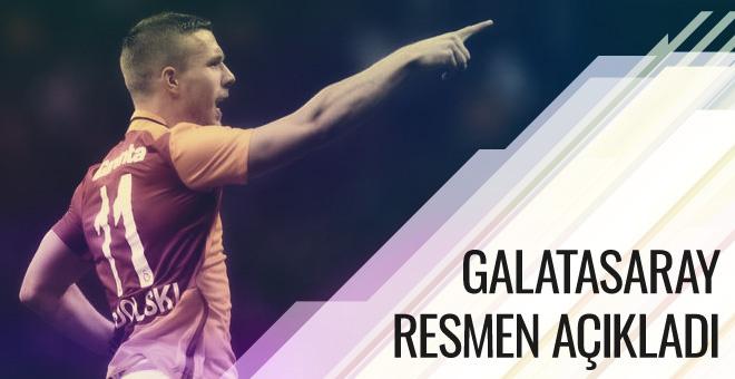 Galatasaray Podolski'yi resmen açıkladı