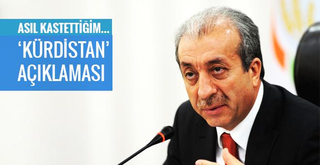 Mehdi Eker'den 'Kürdistan'  açıklaması
