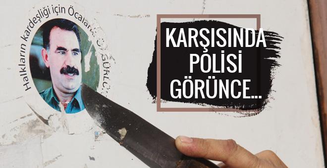 Polis duvarda Öcalan posterini görünce...