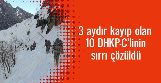 3 aydır kayıp olan 10 DHKP-C'li teröristin sırrı çözüldü