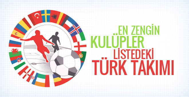 En zengin kulüpler listesinde 2 Türk takımı