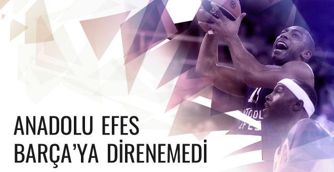 Anadolu Efes Barcelona'ya mağlup oldu