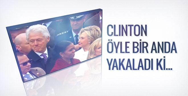 Bu video dünyada olay oldu Clinton eşini fena yakaladı