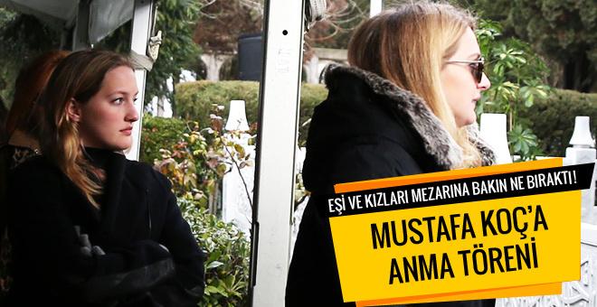Mustafa Koç mezarı başında anıldı! Eşi ve kızları..