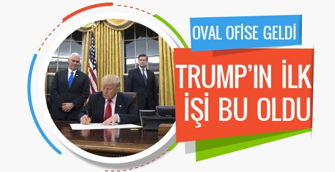Donald Trump'tan ilk hamle oval ofise bakın ne yaptı