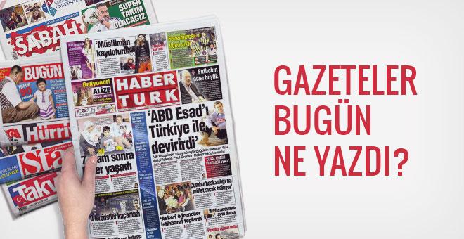 Gazete manşetleri 23 Ocak 2017 bugünkü gazeteler