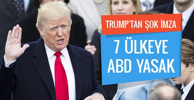 Trump'tan olay imza! Bu 7 ülke vatandaşına ABD yasak