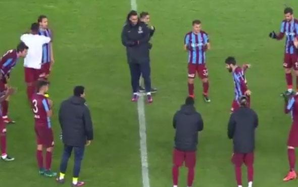Trabzonsporlu oyunculardan kolbastı şov
