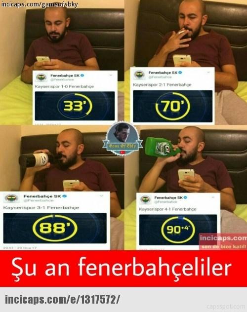 Fenerbahçe 4-1 kaybetti Caps'ler patladı