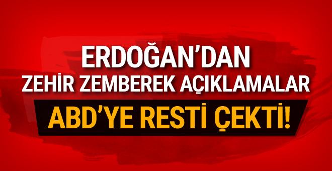 Erdoğan'dan ABD'ye rest! Biz size muhtaç değiliz