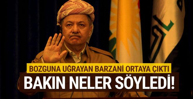 Peşmergesi kaçan Barzani ilk kez konuştu! Hezimetin sebebi...