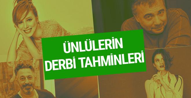 Ünlülerin Galatasaray-Fenerbahçe maçı tahminleri