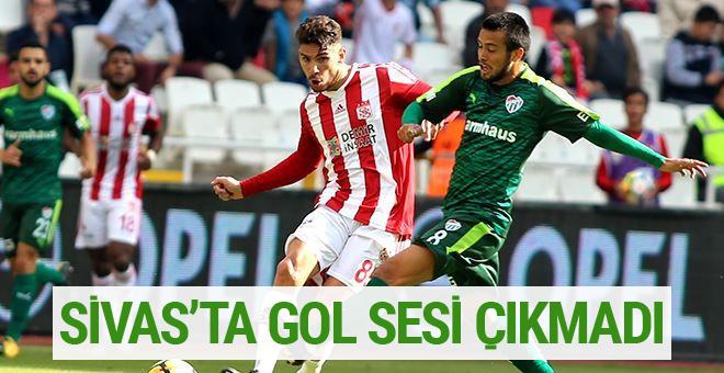 Sivasspor Bursaspor maçı sonucu ve özeti