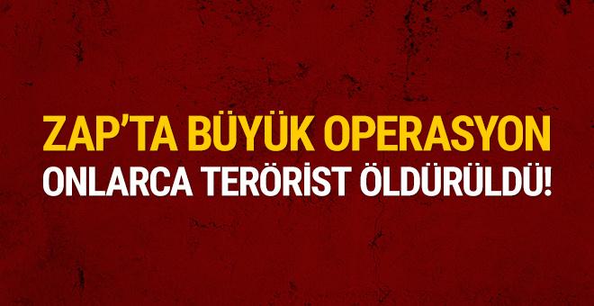 Zap'ta büyük operasyon: 45 terörist öldürüldü!