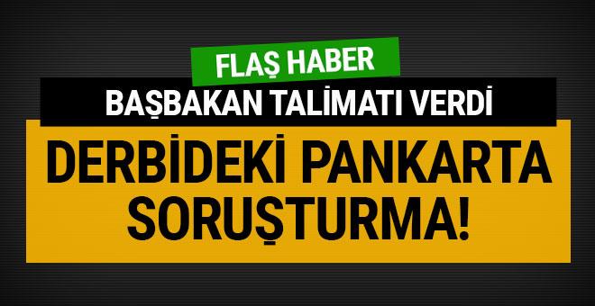 Galatasaray maçındaki koreografi için soruşturma