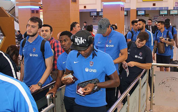 Trabzonspor hazırlık maçı için Katar'a gitti