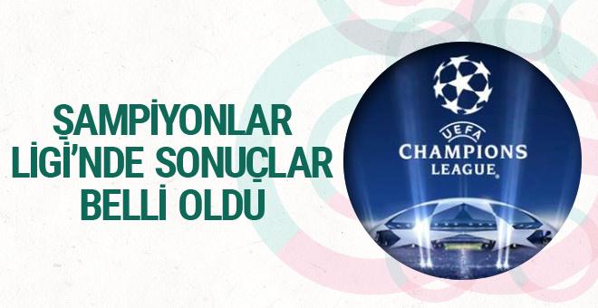 Şampiyonlar Ligi'nde günün sonuçları