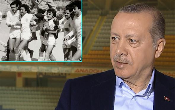 Cumhurbaşkanı Erdoğan, futbol hayatını anlattı