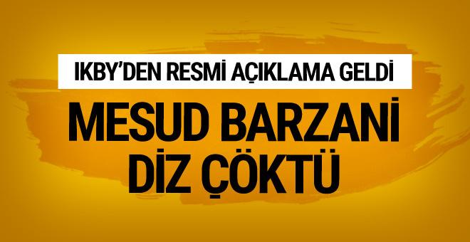 Ve Barzani diz çöktü! Kararı resmen açıkladılar