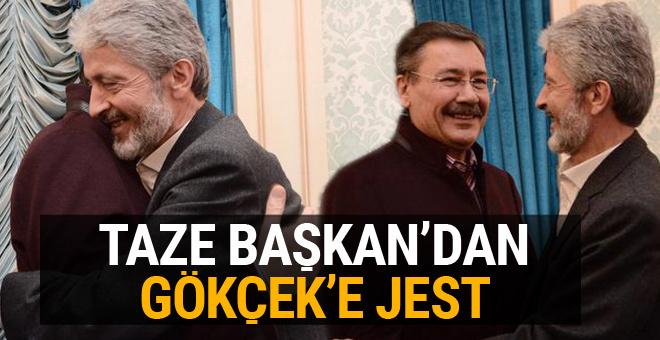 Taze başkan Tuna'dan Gökçek'e büyük jest!