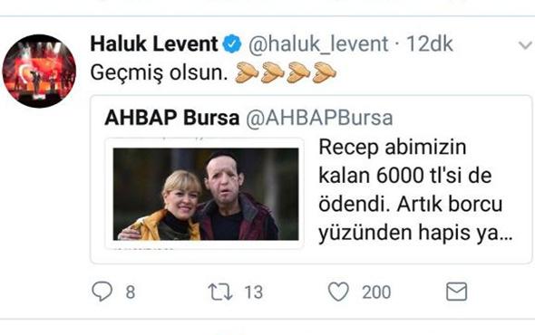 Recep Sert, hapisten çıktı, Haluk Levent'e teşekkür etti!