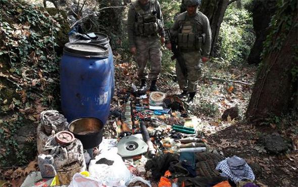 PKK sığınağında ele geçirilenler şoke etti!