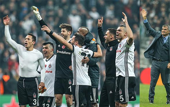 Canlı yayında Beşiktaş'ın liderlik sevinci