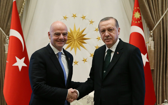 Erdoğan Beştepe'de Infantino'yu kabul etti