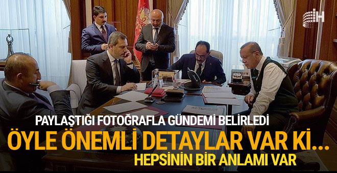 Erdoğan'ın Trump görüşmesindeki karede dikkat çeken detaylar