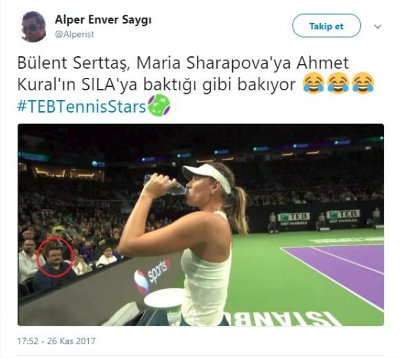 Bülent Serttaş Maria Sharapova fotoğrafıyla ilgili konuştu