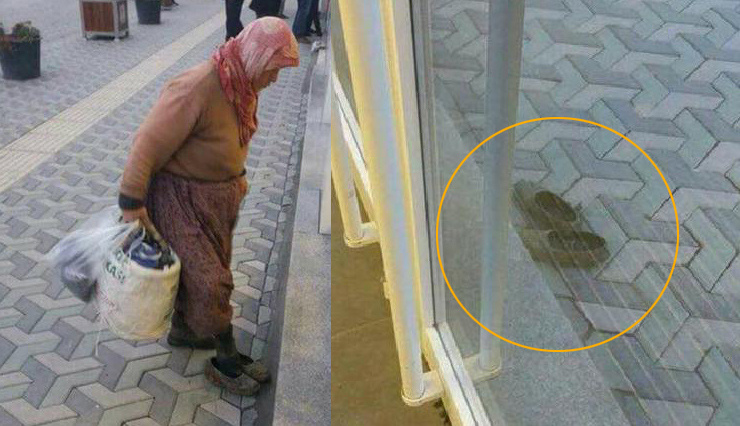 Türkiye onu arıyor? Bankaya çamurlu ayakkabılarını çıkarıp giren kadın