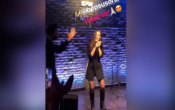Bensu Soral'ın rap performansı
