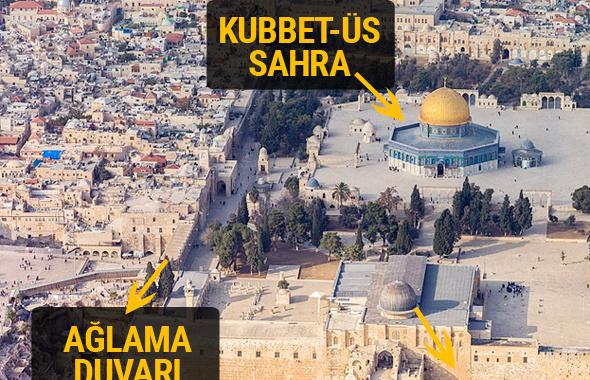 Kudüs haritasına bakın neden bu kadar önemli?