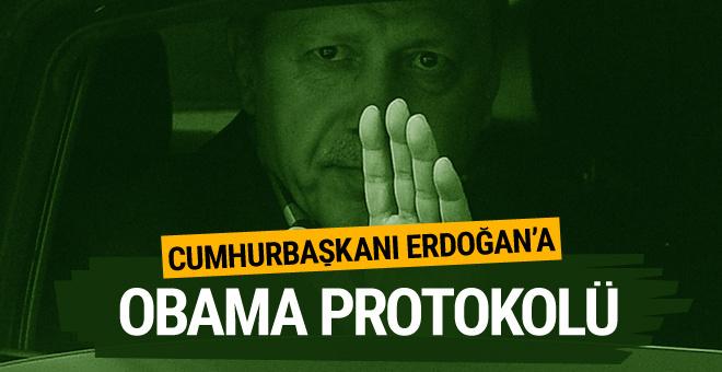 Cumhurbaşkanı Erdoğan'a 'Obama protokolü'