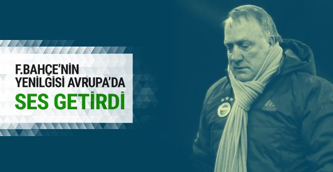 Fenerbahçe'nin yenilgisi Avrupa'da ses getirdi