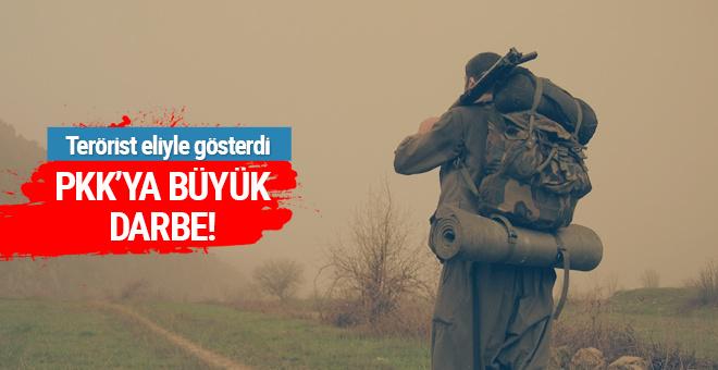 Terörist açık açık gösterdi! PKK'ya büyük darbe